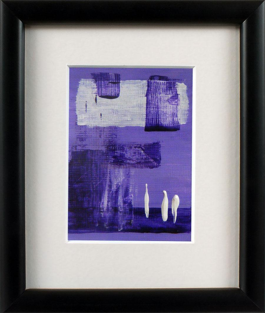 Original Abstract Art Framed Miniature Painting By Rachelle Antoinette