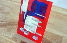 Abstract miniature art on canvas