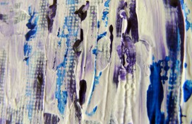 Acrylic abstract painting on canvas