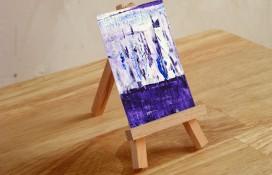 Miniature abstract art by artist Rachelle Antoinette