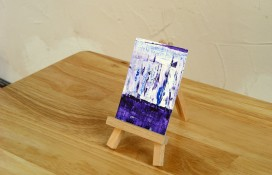 Aceo art purple,blue and white
