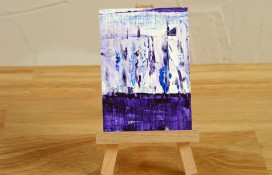 aceo abstarct acrylic painting