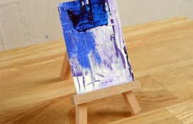 Modern abstract aceo art on canvas