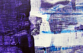 Miniature painting in purple,white and blue