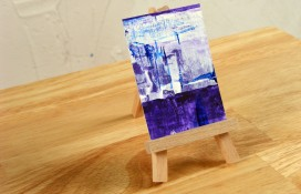 Abstract aceo/atc art on canvas
