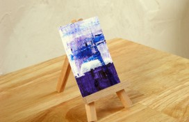 Original abstract aceo art Cosmic Expose One