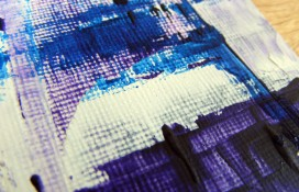 Abstarct aceo art in purple,blue and white