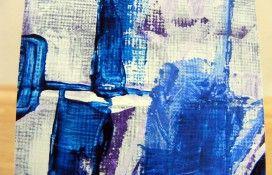 Abstract aceo art on canvas