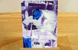 ATC art trading card acrylic on canvas