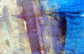 Blue, white and violet acrylic abstract art