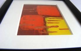 Framed abstract miniature art
