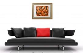 Acrylic abstract art on canvas