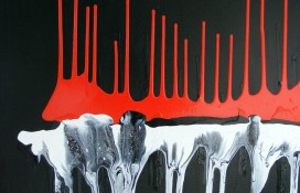 Original Abstract Red and Black Painting
