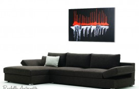 Red, White and Black Original Oil Painting