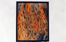 Abstract Modern Art Framed And On Canvas