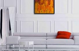 Abstract Art using Purple and Orange