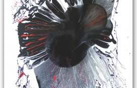 Black, White and Red Modern Abstract Art On Canvas