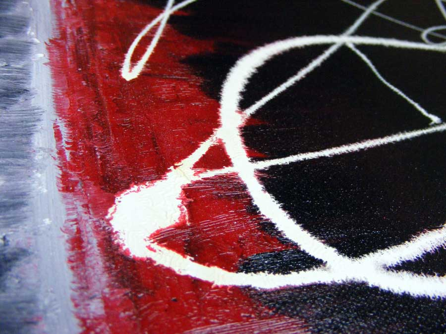 Oil Abstract Painting Red