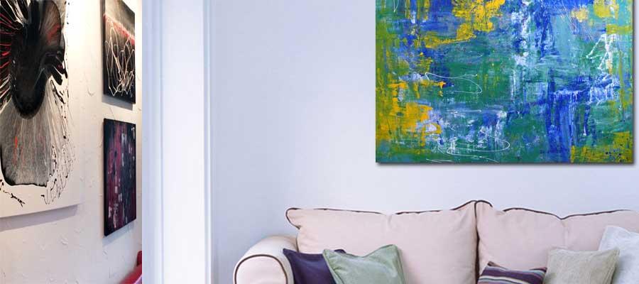 Abstract Art Gallery by Yorkshire Artist Rachelle Antoinette