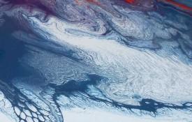 Aurelias satellite image sea and mountains