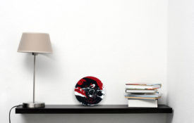 Portholes of Aurelia IV Shelf Lamp and Book view