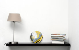 Portholes of Aurelia X Shelf with Lamp and Books view