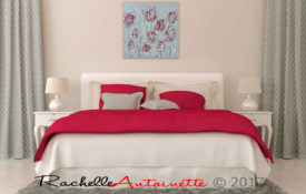 Silver and Red Art For The Bedroom